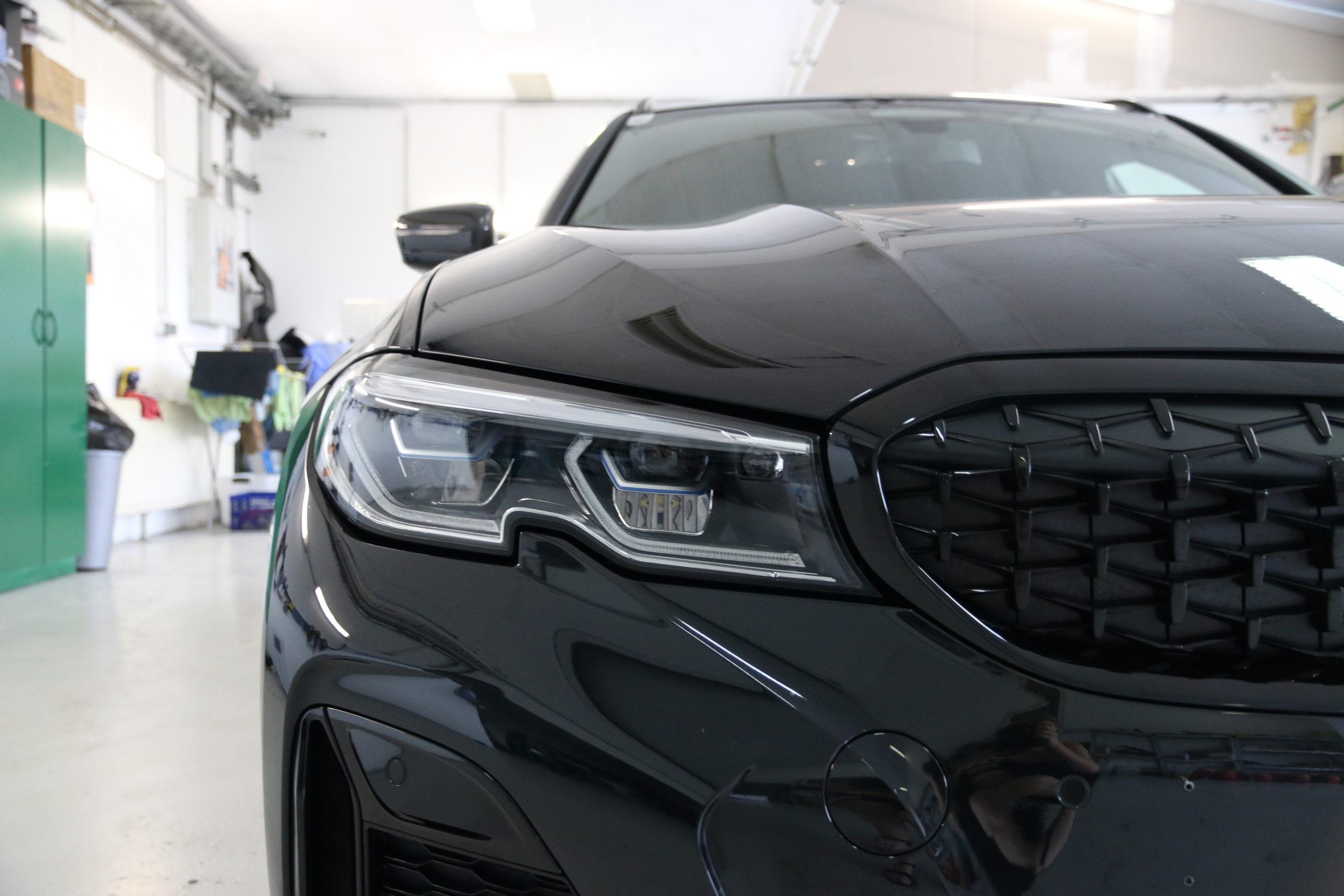 BMW M3 Front nach Versiegelung, Scheinwerfer